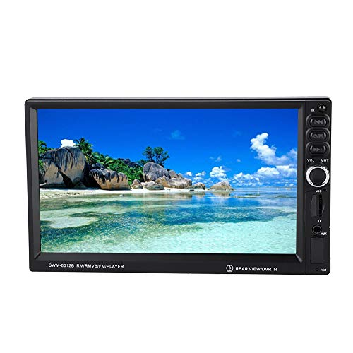 Double Din Car Stereo, 7 inch HD In Dash Car Radio, MP5 Multimedia Video Player Supports Reversing Images /Bluetooth Handsfree/ U Disk/ TF/ AUX