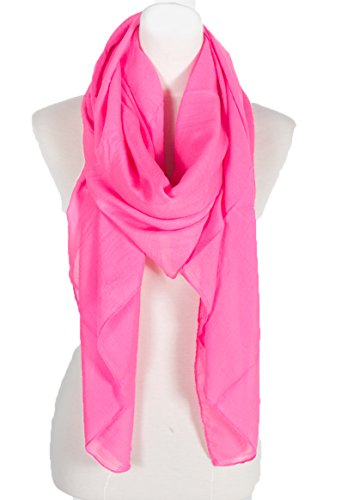 Plain Large Scarf, Can also by styled as a Sarong, Wrap or Shawl, summer scar, beach shawl, beach scarf wrap, beach top (Hot (Hot Pink Scarf)