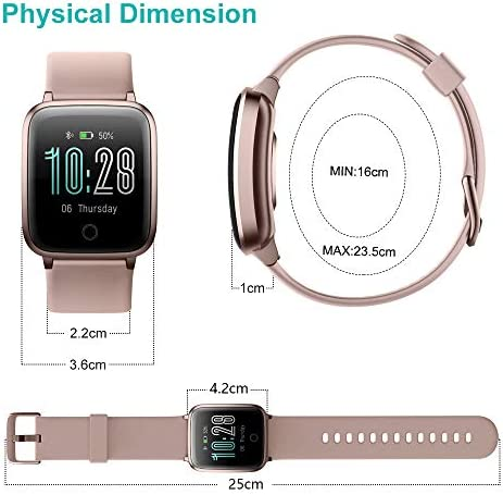 Willful Smart Watch for Men Women 2020 Version IP68 Waterproof, Fitness Tracker Heart Rate Monitor Sport Digital Watch, Smartwatch for Android Phones and iOS Phones Compatible iPhone Samsung (Pink) 41I0gvSl 2B0L