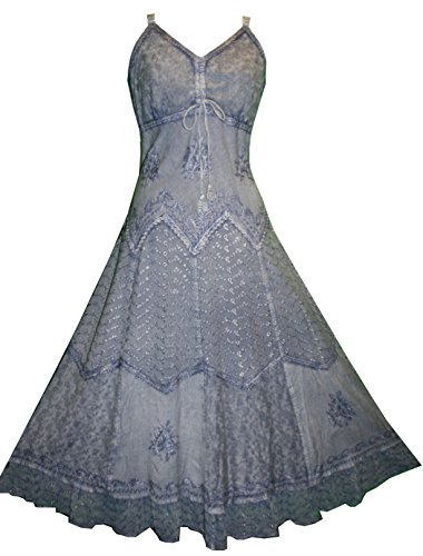 600 D Agan Traders Evening Gothic Summer Sleveless Dress (2X, Lilac)