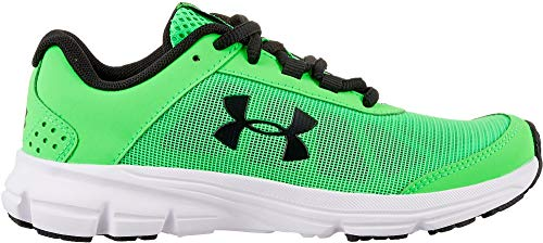 Boys 7y Running Shoes - Under Armour Kids' Grade School Rave 2 Running Shoes (7, Green/Green)