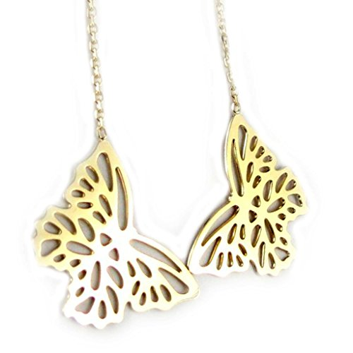 Gold plated earrings 'Papillon Lumiere' (Lumiere Costume)