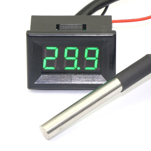 DEOK -55-125°c Digital Indoor/outdoor Thermometer DS18b20 Sensor Temp Green 3M Cable