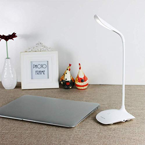 Abs Creative Table Lamp, White Student Rotating Led Table Lamp Touch Table Lamp