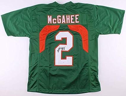 Miami Hurricanes Willis McGahee Signed Jersey (JSA COA) at ...
