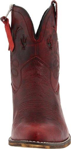 Adobe cuero para Botas Rose mujer rojas Dingo desgastadas de wXAHHqxP