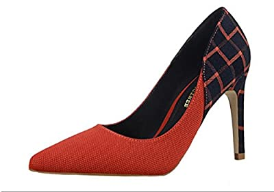 Ryse Women's Fashionable Delicate Elegant Temperament Thin High Heels Pointy Shoes
