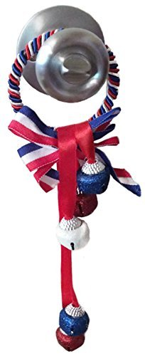 Glittery Patriotic Red, White & Blue Door Knob Hanger, 2 Pack ()
