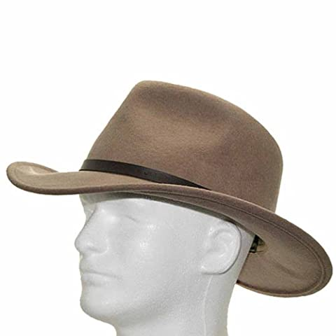 New OUTBACK CAPRY Putty CRUSHABLE Wool Hat Mens 6 7/8 - 20101 Cap