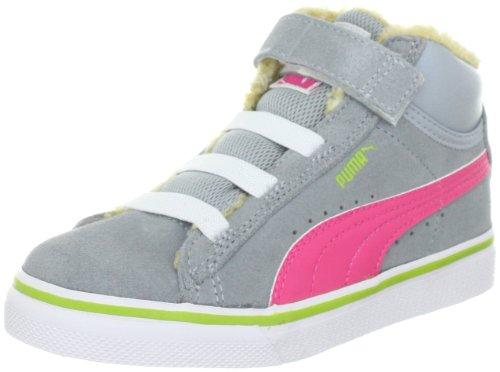 Puma Mid Vulc - Zapatillas infantil Grau (quarry-hot pink-bright ch 02) (Grau (quarry-hot pink-bright ch 02))