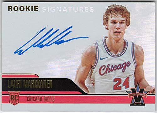 Lauri Markkanen 2017-18 Panini Vanguard Rookie Signatures On Card Auto Serial #20/99 Chicago Bulls RC Autograph