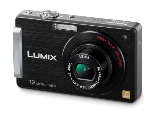 Panasonic Lumix DMC-FX580 12MP Digital Camera with 5x MEGA Optical Image Stabilized Zoom and 3 inch LCD (Black)