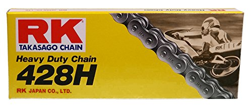 Rkm Standard (RK Racing Chain M428H76 428 Series Steel 76-Link Standard Non O-Ring Chain with Connecting Link)