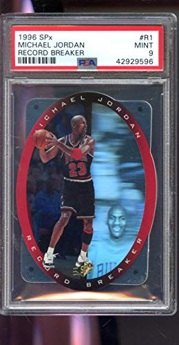 1996-97 Upper Deck SPx Record Breaker #R1 Michael Jordan Insert MINT PSA 9 Graded NBA Basketball Card