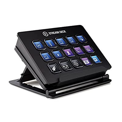 Elgato Stream Deck - Live Content Creation Controller with 15 customizable LCD keys, adjustable stand, for Windows 10 and macOS 10.11 or later - 4013030 , B06XKNZT1P , 454_B06XKNZT1P , 150 , Elgato-Stream-Deck-Live-Content-Creation-Controller-with-15-customizable-LCD-keys-adjustable-stand-for-Windows-10-and-macOS-10.11-or-later-454_B06XKNZT1P , usexpress.vn , Elgato Stream Deck - Live Content Crea