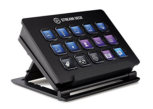 (Elgato Stream Deck - Live Content Creation Controller with 15 customizable LCD keys, adjustable stand, for Windows 10 and macOS 10.11 or later)
