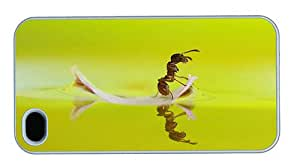 Hipster crazy iPhone 4 cases ant leaf boat PC White for Apple iPhone 4/4S