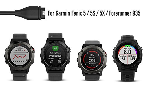 moko charger compatible with garmin fenix 5 replacement. Black Bedroom Furniture Sets. Home Design Ideas