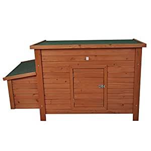 Pawhut Madera Chicken Coop/Aves de corral Hutch W/Caja Nido