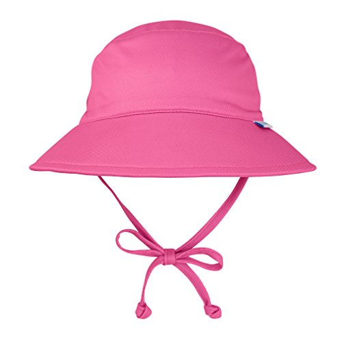i play. Kids' Toddler Girls Breatheasy Bucket Sun Protection Hat, Hot Pink, 2T/4T ()