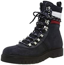 Tommy Hilfiger Padded Nylon Lace Up Boot, Botines para Mujer, Midnight 403, 41 EU