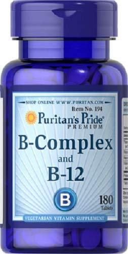 VITAMINA B12 Y B COMPLEX 180 COMPRIMIDOS (MEMORIA Y STRESS)