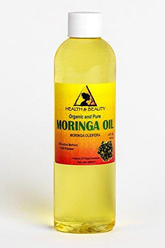 Moringa Oleifera Oil Organic Cold Pressed by H&B OILS CENTER Natural Fresh 100% Pure 4 oz