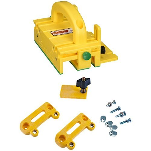 (GRR-RIPPER Advanced 3D Pushblock for Table Saw, Router Table, Jointer and Band Saw with Handle Bridge Kit)