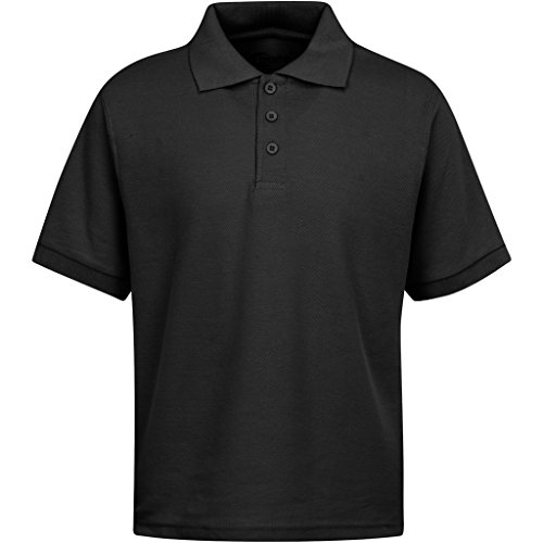Boys Uniform Polo Shirt Black L 14/16