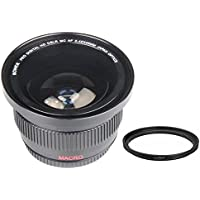 Bower 0.42x High-Speed Wide-Angle Fisheye Lens with Macro For Sony Alpha A5000 A5100 A6000 16-50mm Lens