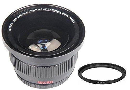 Bower 0.42x Wide Angle Fisheye Lens For Canon Vixia HF R800 R700