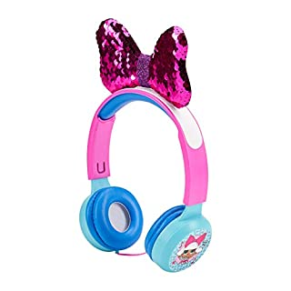 L.O.L. Surprise! Kids Safe Over The Ear Headphones HP2-13136   Kids Headphones, Volume Limiter for Developing Ears, 3.5MM Stereo Jack, Recommended for Ages 3-9, by Sakar (Styles may vary)