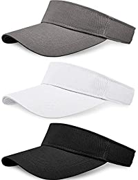 14d1493e8f3f74 3 Pieces Sun Sports Visor Hats One Size Adjustable Cap for Women and Men