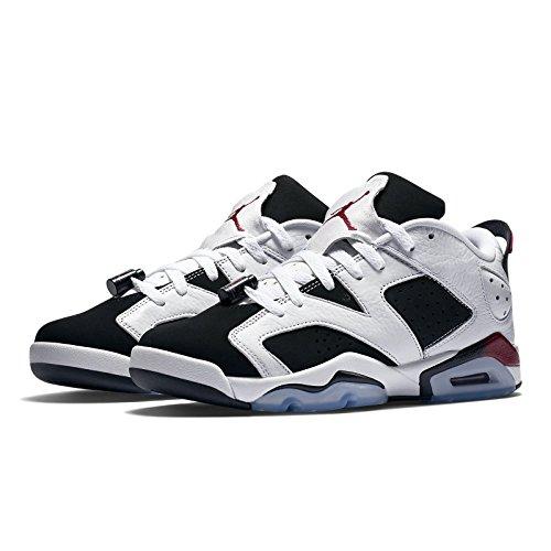 Image of NIKE Air Jordan 6 Retro Low GG, Youth Basketball Shoes, White/Sport Fuchsia - Black