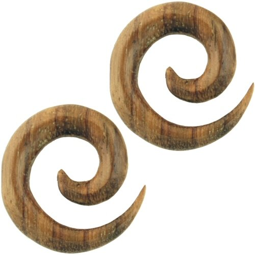 Pair of Wood Swirls: 7/16''g