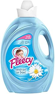 Fleecy Liquid Fabric Softener, Fresh Air, 148 Loads, 3.5L