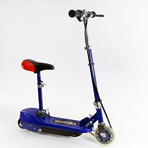 ELEKTRO SCOOTER E-ROLLER MINI POCKET CITY BIKE CITYROLLER + SITZ 120W, Farbe:Blau