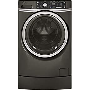 GE GFW490RPKDG 28' Front Load Washer with 4.9 cu. ft. Capacity, 13 Wash Cycles, in Diamond Grey