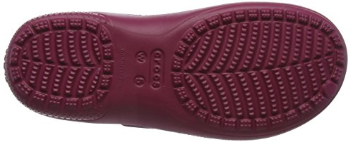 Crocs Dust Pomegranate Freesail Clog Plushlined Zoccoli Rosso Rose Donna rwrYCd8x