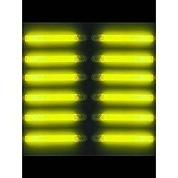 """Forum Novelties 6"""" Lightstick with Lanyard 6"""", Yellow"""