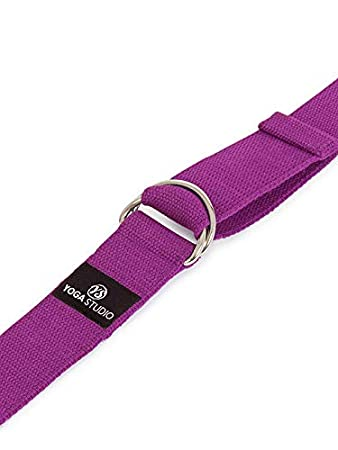 Yoga Studio 2.5m Belt Strap With Metal D-Ring Buckle