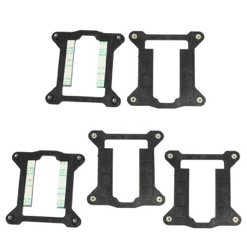 5 Pcs Heatsink AMD Holder Bracket Backplate for Intel Socket 1156 1155 H H2 Motherboard (Pc Computer Gino)