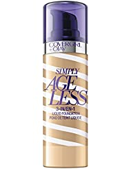 COVERGIRL + Olay Simply Ageless 3-in-1 Liquid Foundation, the #1 Anti-Aging Foundation Now In A Liquid, Classic Ivory Color, 1 Ounce