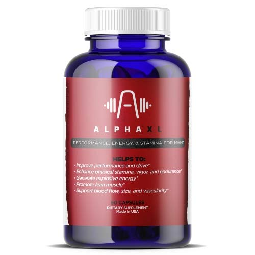 Alpha XL - Most Potent & Powerful Male Supplement Pills - Ideal for Men with Low T Testosterone Levels - All Natural & Clinically Proven Ingredients - Performance Booster