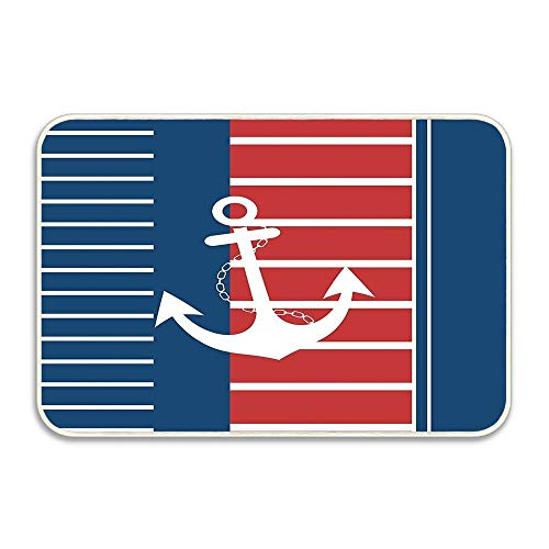 Nick Thoreaufhed Trendy Nautical Stripe Design Entrance Door Mat 16x24 inch Durable Large Heavy Duty Front Outdoor Rug Non-Slip Welcome Doormat for Entry