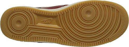 Nike Air Force 1 - Calzado Deportivo para hombre Rojo / Blanco / Marrón (Team Red / Lght Bn-Gm Lght Brwn)