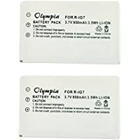 2 Pack R-IG7 Battery for Logitech 720, 850, 880, 885, 890 Pro, H880, 900 and Harmony One Universal Remotes