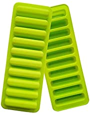 10 Grids Cylinder Silicone Ice Cube Tray Green Jelly Chocolate Cookie Mold