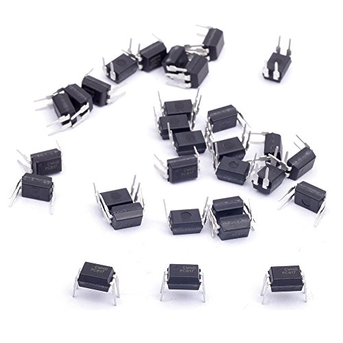 Cylewet 30Pcs Optocoupler PC817C 2.54mm Pitch 4 Pins Dip-4 Mounting Photo Coupler for Arduino (Pack of 30) CYT1056 ()