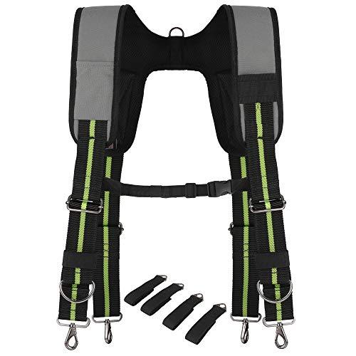 - Padded Tool Belt Suspenders w/Chest Strap, Pencil Sleeve, Molle Clip | Durable 1000D Material & Metal Buckles/Hooks | Fully Adjustable Hi-Vis Harness | Construction Grade Carpenter Suspension Rig